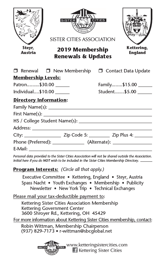 KCS Membership Form